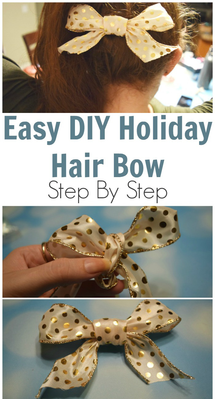 Easy DIY Holiday Hair Bow