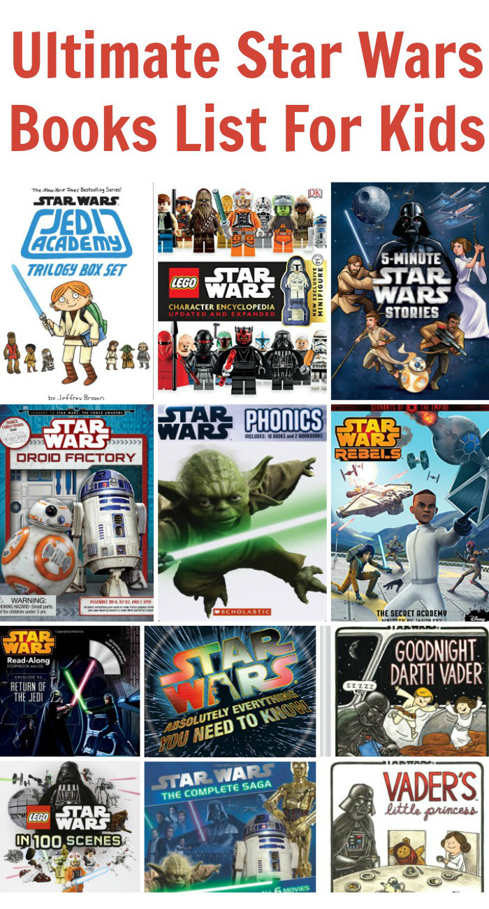 Ultimate Star Wars Books List For Kids