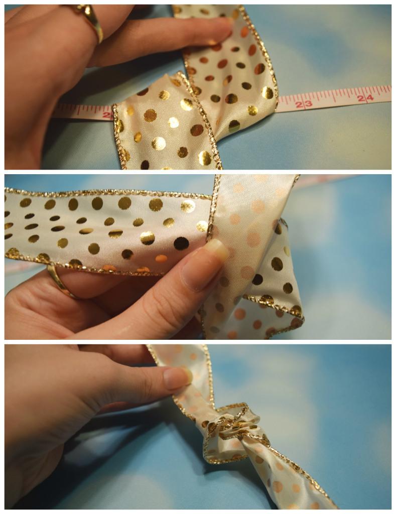 Easy DIY holiday bow