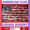 Easy American Flag Cookie Dessert for the Fourth of July
