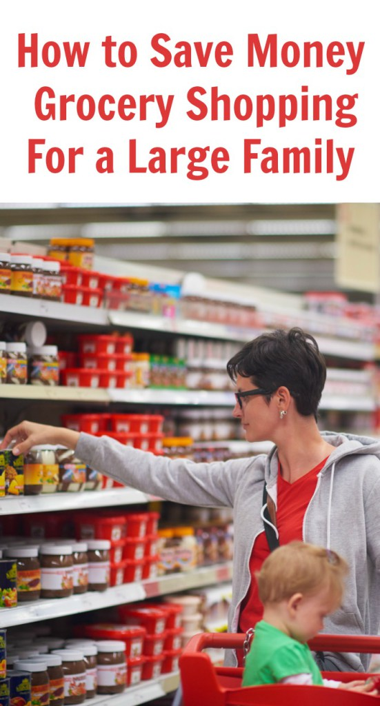 How to Save Money When Grocery Shopping For a Large Family