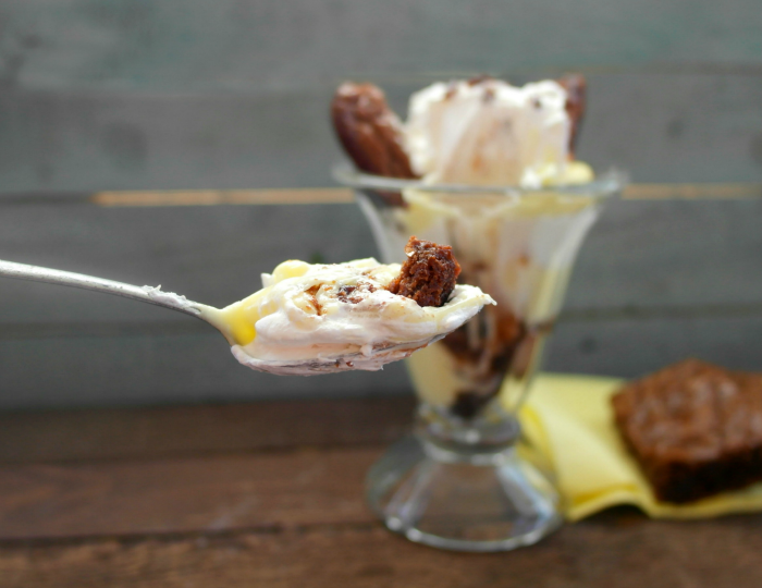 Boston Cream Brownie Parfait