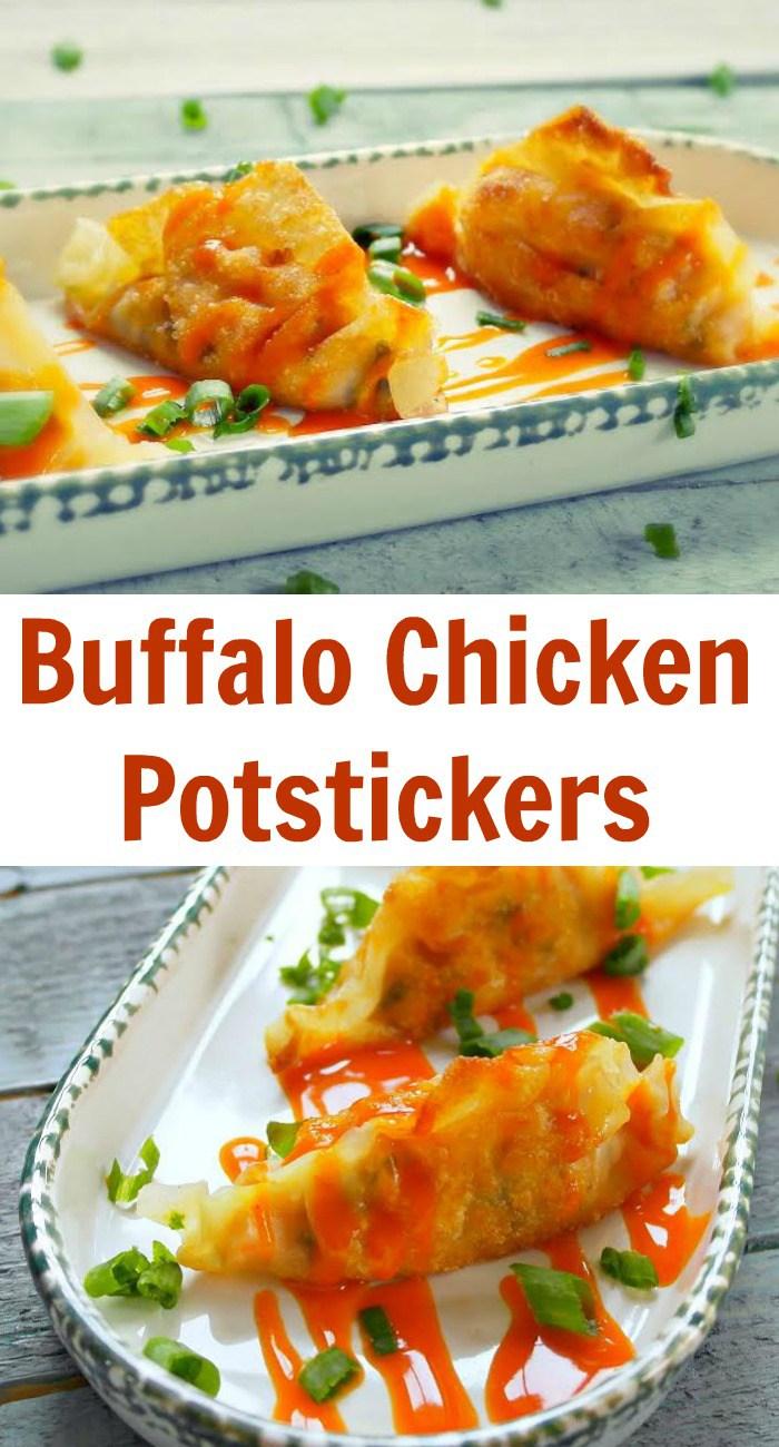 Buffalo Chicken Potstickers