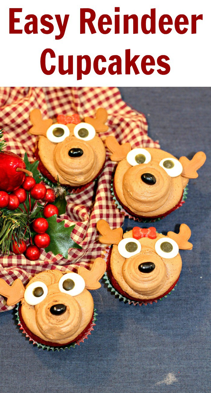 Easy Reindeer Cupcakes Recipe