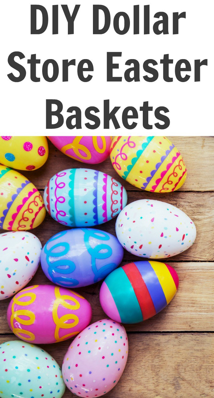 DIY Dollar Store Easter Baskets