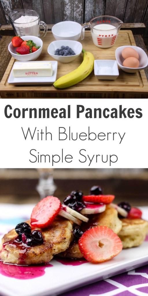 Cornmeal Pancakes With Fruit