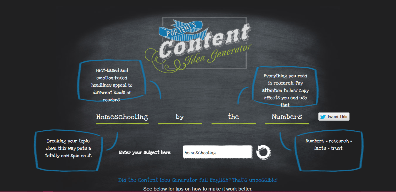 Content generator - Blog Ideas