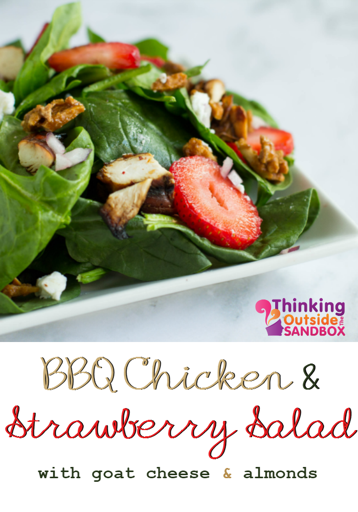 BBQ Chicken and Strawberry Salad