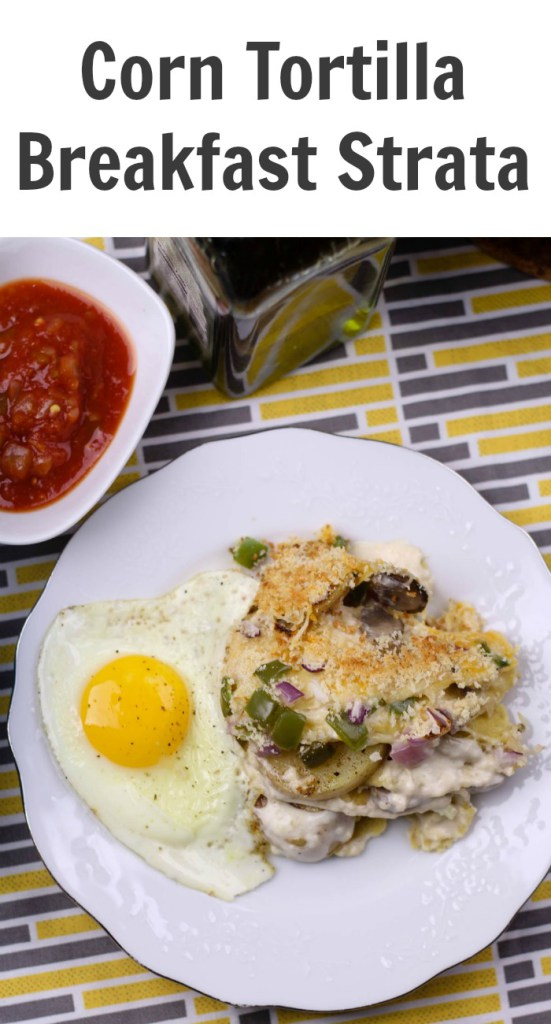 Corn Tortilla Breakfast Strata
