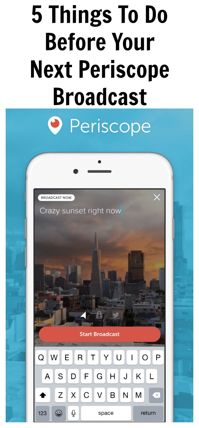Live streaming on Periscope is quickly becoming the way of the future! You need to think on you toes. What should you do before you even start your scope?