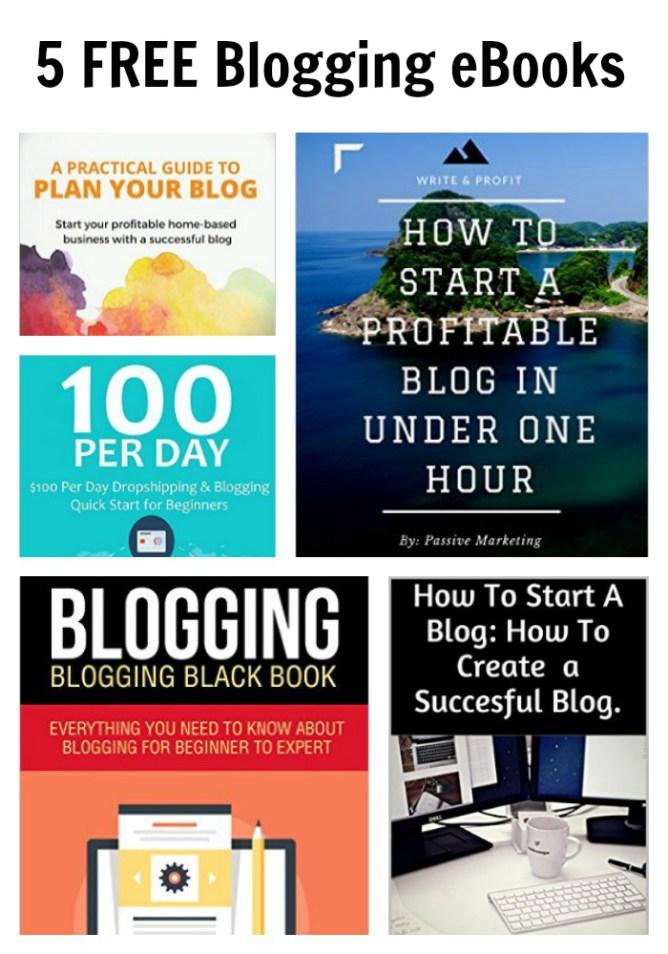 5 FREE Blogging eBooks