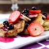 Cornmeal Pancakes With Fruit