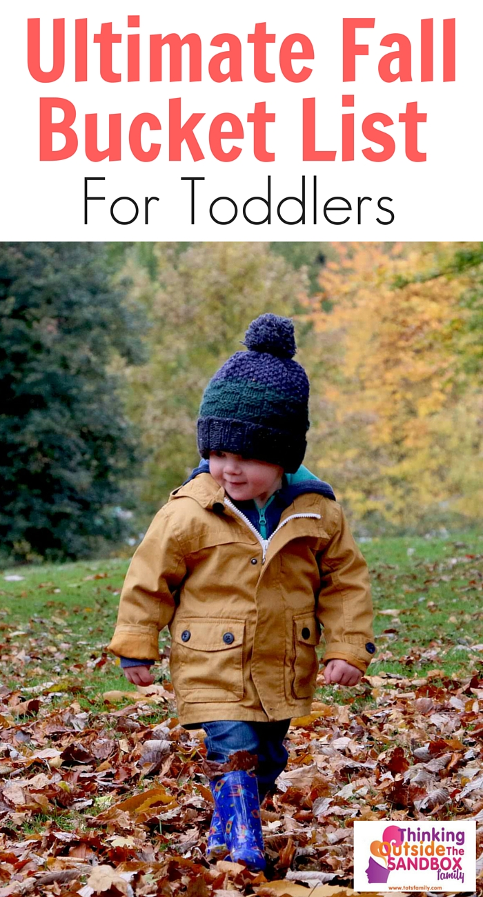 My Ultimate Fall Bucket List for Toddlers will get ready to have some fun with your little tike this fall. Your little one will love these activities and so will you!
