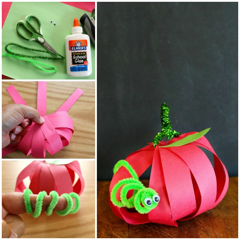 Easy Fall Kids Crafts: Apple