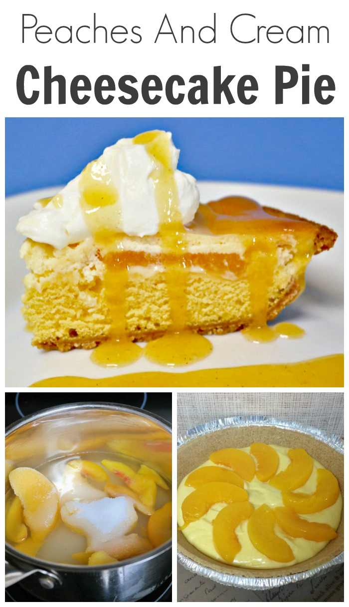 Peaches And Cream Cheesecake Pie