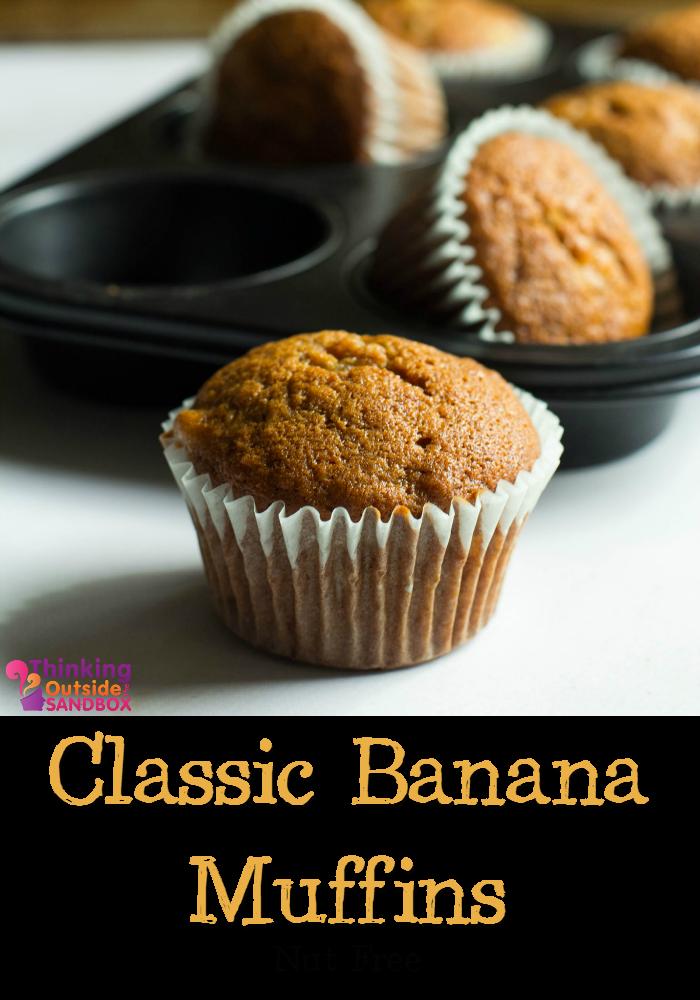 Classic Nut Free Banana Muffins Recipe