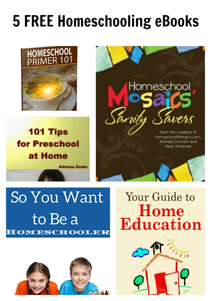5 FREE Homeschooling eBooks