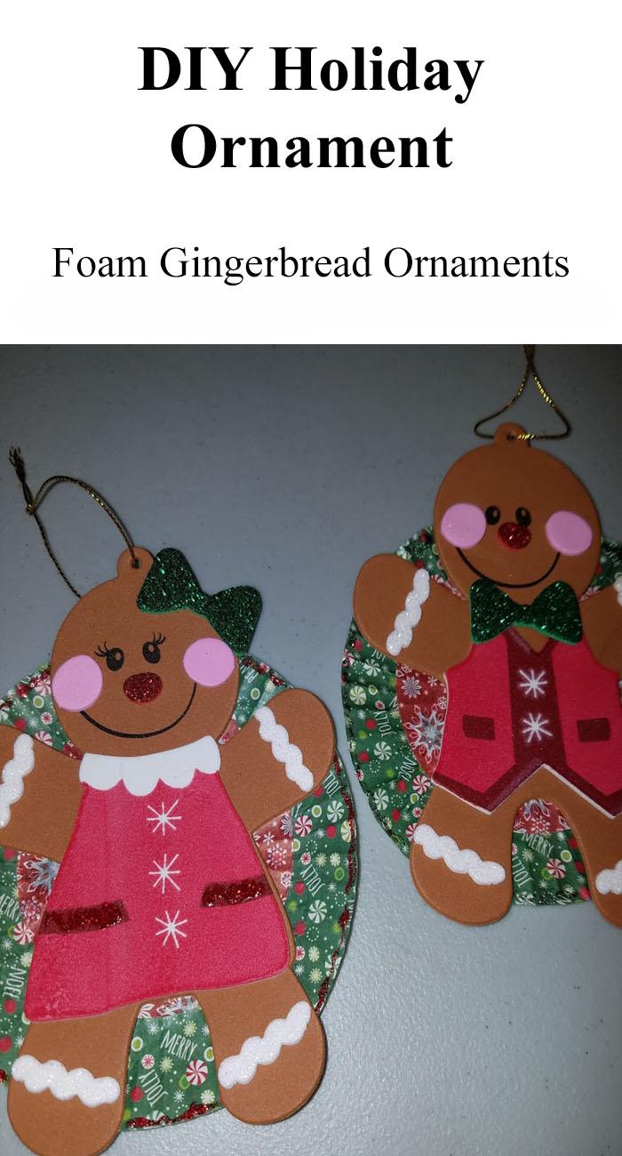 DIY Foam Gingerbread Christmas Ornaments