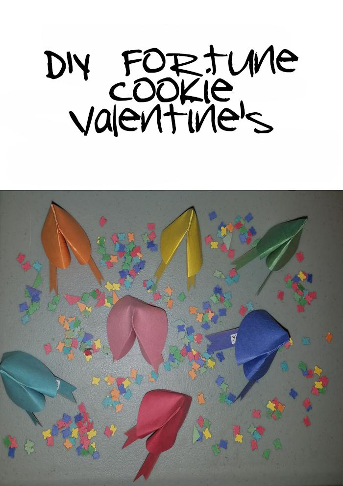 DIY Fortune Cookie Valentines Craft