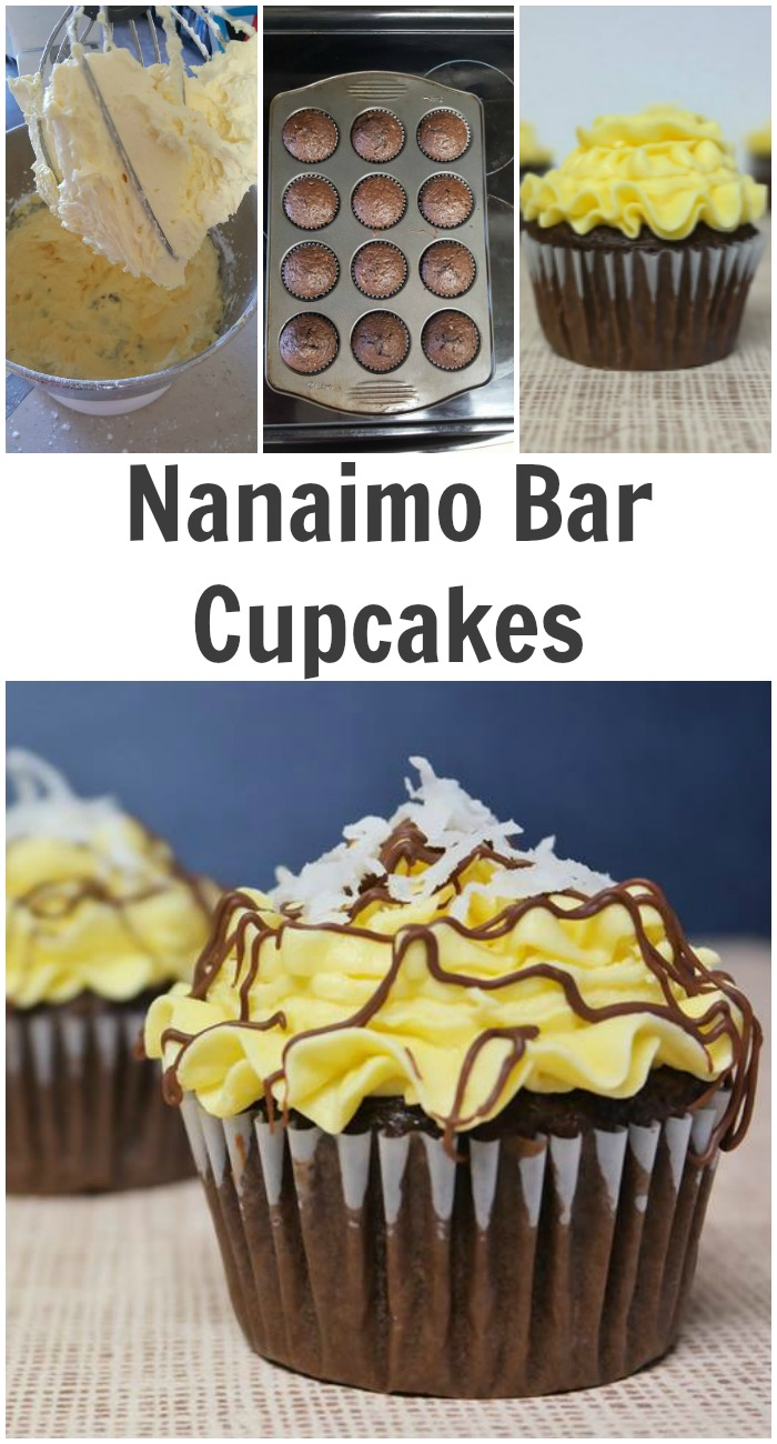 Nanaimo Bar Cupcakes